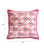 Olie Heartlight Multicolour Cotton Hand Made Cushion Cover