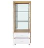 Olive Crockery Cabinet in White & Maple Finish by Royal Oak
