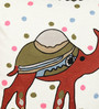 One Good Thing Olive & Maroon Cotton 16 x 16 Inch Dessert Safari Cushion Cover