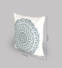 One Good Thing White & Grey Canvas 16 x 16 Inch Suzani-Embroidered Cushion Cover - Set of 2