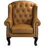 One Seater Leather Wing Chair by Three Sixty Degree