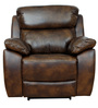 One Seater Motorized Half Leather Recliner in Mocha Colour by Star India