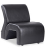 One Seater Sofa in Black Colour by Durian