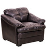One Seater Sofa in Brown Colour Bonded Leather by Royal Oak
