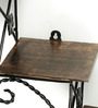 Onlineshoppee Brown Mango Wood Hanging Wall Shelf