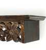 Onlineshoppee Brown Solid Wood Wall Shelf