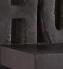 Onlineshoppee Black Mango Wood Hand Crafted Shelf Rack