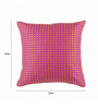 Onset Pink & Orange Silk 12 x 12 Inch Embossed Cushion Cover