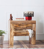 Ontario Bed Side Table in Natural Mango Wood Finish by Woodsworth