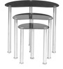 Onyx Nest Tables Set of 3 in Black Colour by @home