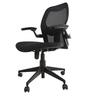 Opel Medium Back Ergonomic Chair in Black Colour by Starshine