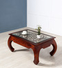 Opium Handcrafted Coffee Table in Honey Oak Finish by Mudramark