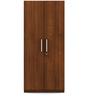Optima Two Door Wardrobe in Walnut Finish by Spacewood