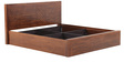 Orchid Queen Bed with Storage in Walnut Finish by Evok