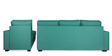Oritz LHS Three Seater Sofa with Lounger and Throw Cushions in Jade Colour by CasaCraft