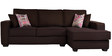 Oritz LHS Two Seater Sofa with Lounger and Cushions in Chestnut Brown Colour by CasaCraft
