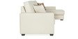 Oritz LHS Three Seater Sofa with Lounger and Throw Cushions in Pale Taupe Colour by CasaCraft