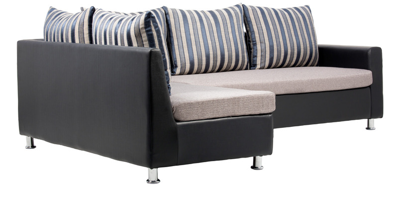 Buy orlando grey sofa set 1 double seater sofa 1 lounger for Grey double divan