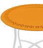 Orange Moroccan Table by The Yellow Door
