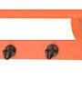 Orange Shelf With Hooks by The Yellow Door
