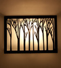 Orange Tree Black Glass Zen 2 Way Wall Lamp