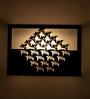 Orange Tree Black Glass Zen fauna 2 Way Wall Lamp
