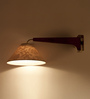 Orange Tree Brown Iron and Wood Alam Wall Lamp