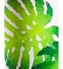 Orange Tree Green & White Cotton Rokko Floor Lamp