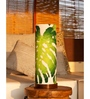 Orange Tree Green and White Cotton Rokko Table Lamp