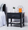 Lynnwood Bed Side Table in Espresso Walnut Finish by Woodsworth