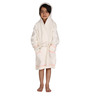 Organic Kids Hooded Bathrobe in Off White Color by Mummas Touch