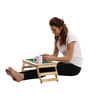 Licensed Mickey & Goofy Digital Printed Folding Laptop Table by Orka