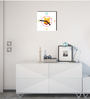 Licensed Winnie the Pooh Digital Printed Square Analog Wall Clock