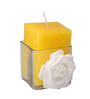Orlando's Decor Candles Lemongrass Aroma Pillar Candle with Candle Stand