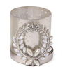 Orlando's Decor Silver Metal & Glass Broach Holder with Tea Light Holder
