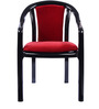 Ornate Chair (Set of 4) in Black & Red Colour by Supreme