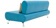 Oscar Three Seater Sofa in Peacock Blue Colour by Furnitech