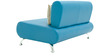 Oscar Two Seater Sofa in Peacock Blue Colour by Furnitech