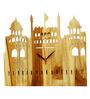 Otish Handmade Fort Wall Clock in Brown by Bohemiana