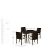 Outdoor Dining Set (1T + 4C) by Svelte