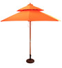 Outdoor Luxury Wooden Centre Pole Patio Umbrella in Orange color by Adapt Affairs