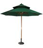Outdoor Luxury Wooden Centre Pole Patio Umbrella in Greencolor by Adapt Affairs