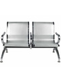 Outdoor Metal Visitor Bench with Armrest by Ventura