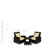 Outdoor Tea Table Set (1T + 2C) by Svelte