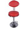 Ovalado Red Color Metal Bar Chair by VJ Interior