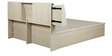 Oyester King Bed with Hydraulic Storage in Oak Finish by HomeTown