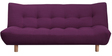 Palermo Sofa cum Bed in Purple Colour by Furny
