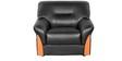 Parto Sofa Set (3+2+1) Seater in Black Colour by Godrej Interio