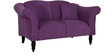 Paulina Two Seater Sofa in Mulberry Colour by CasaCraft