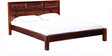 Pavana Handcrafted King Size Bed in Honey Oak Finish by Mudramark